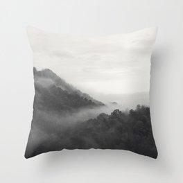 hill forest Throw Pillow