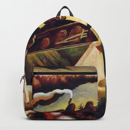 Classical Masterpiece 'Engineer's Dream' by Thomas Hart Benton Backpack
