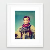 murray Framed Art Prints featuring Space Murray by rubbishmonkey