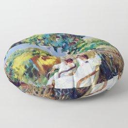 Joaquin Sorolla y Bastida - Nap in the Garden 1904 Floor Pillow
