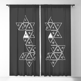 Unrolled D20 Blackout Curtain