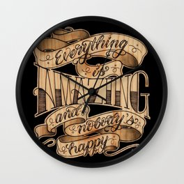 Everything is Amazing Wall Clock