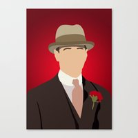 boardwalk empire Canvas Prints featuring Nucky Thompson - Boardwalk Empire by Tom Storrer