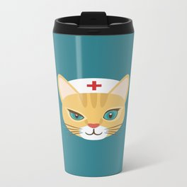 Nurse Cat ~ Teal Travel Mug