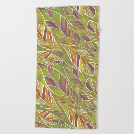 Leaves. Beach Towel