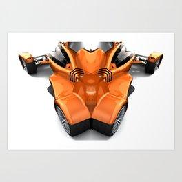 Orange Car 0945 Art Print