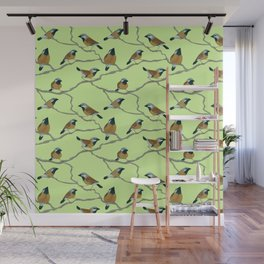 Black-Throated Finches Wall Mural