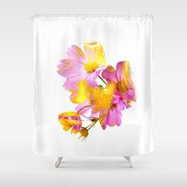 New Mixed Era -  Purple Faced Flower Shower Curtain