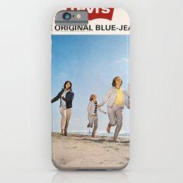 Werbeposter levis the original blue jeans since iPhone Case