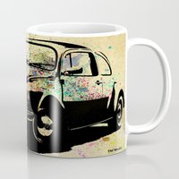beetle Mugs featuring Beetle by Del Vecchio Art by Aureo Del Vecchio