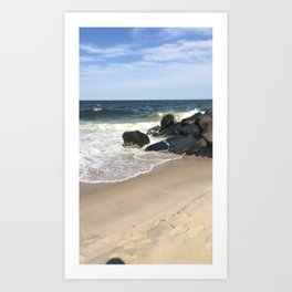 Baesic Belmar Beach Art Print
