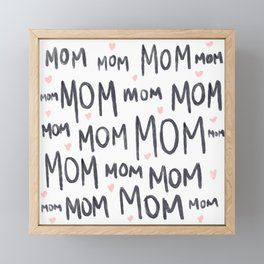 #Mom #Mothers-Day-Pattern #Pattern #Mothers-Day Framed Mini Art Print