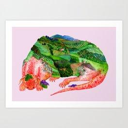 Chianti Landscape Dragon Art Print