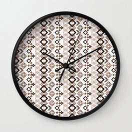 Ethnic ikat pattern.4 Wall Clock