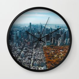 Central Park New York City Skyline Wall Clock