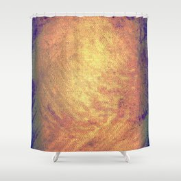 Incandescent material Shower Curtain