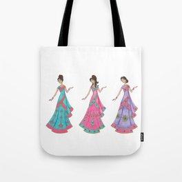 Indian Women Dancing Tote Bag