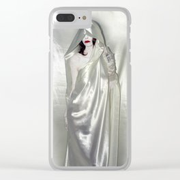 """say no to patriarchy / """"the justice"""" Clear iPhone Case"""