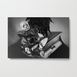 Clown Sitting Creepy Metal Print