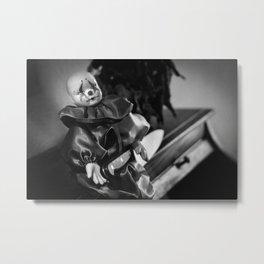 Clown Sitting Creepy Metal Print