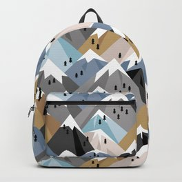 Alpine mountains winter climbing peaks snow Backpack