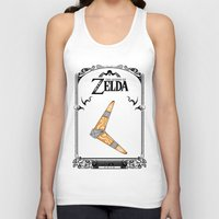 the legend of zelda Tank Tops featuring Zelda legend - Boomerang by Art & Be