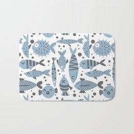 All kinds of fishes Bath Mat