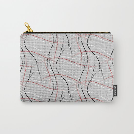 Stitches Abstract Carry-All Pouch