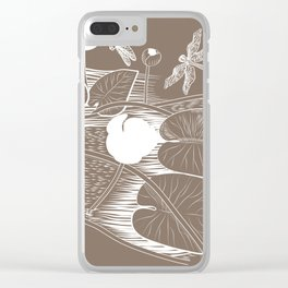 Water-lilies Clear iPhone Case