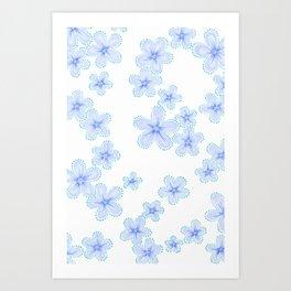 Lily (Blue) Art Print
