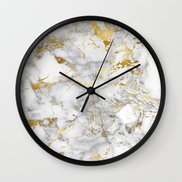 Gold Mine Marble Wall Clock
