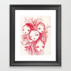 Mixed Up In A Coral World Framed Art Print