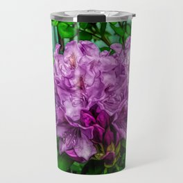 Fine Wine Cafe Light Purple Rhododendron Travel Mug