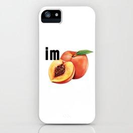 Logo IM PEACH iPhone Case
