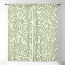 Little Dots Soft Green Blackout Curtain