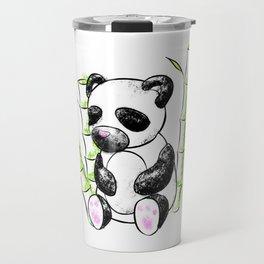 Digital Charcoal Panda (without glimmer) Travel Mug