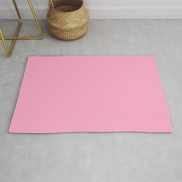 From The Crayon Box – Carnation Pink - Pastel Pink Solid Color Rug