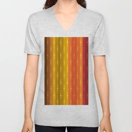 Jewel Tone Color Stripes Unisex V-Neck