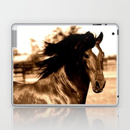 Horse print horse photography equestrian art sepia Poster Laptop & iPad Skin