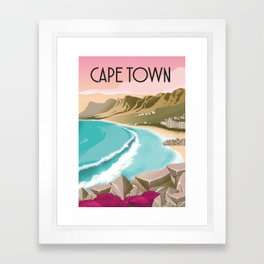 Cape Town | Vintage Travel Poster | Enhanced Matte Paper perfect for your wall ! Sizes: (inches) Framed Art Print