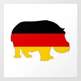 German Flag - Hippo Art Print