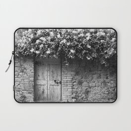 Old Italian wall overgrown with roses Laptop Sleeve