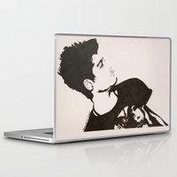 zayn malik Laptop & iPad Skins featuring Zayn Malik by farwasart