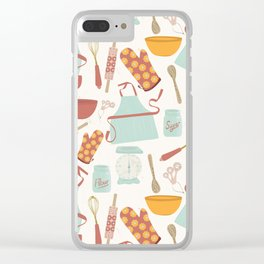 Vintage Kitchen Clear iPhone Case
