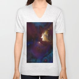 Bat Nebula  Unisex V-Neck