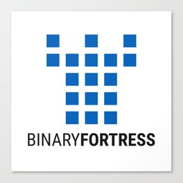Binary Fortress Software (blue logo) Canvas Print