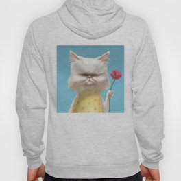 A cat holding a flower Hoody