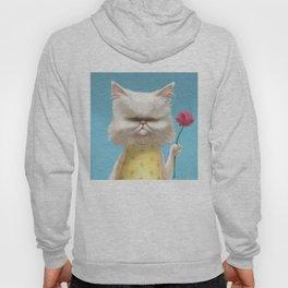 A cat holding a flower Hoody