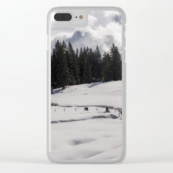 Winter Wonderland- Snowy Landscape in Alps Clear iPhone Case
