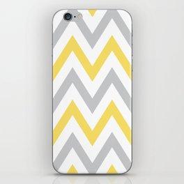 Gray & Yellow Chevron iPhone Skin